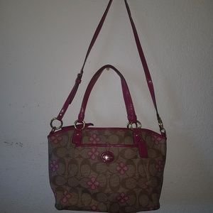 COACH PEYTON SIGNATURE CLOVER POCKET TOTE STYLE